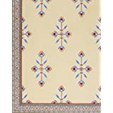 Framed wallpaper with a floral and diamond shaped design, detail, by Owen Jones (Print On Demand)