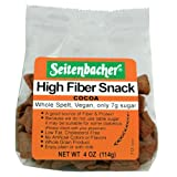 Seitenbacher Cocoa-Dusis, German Whole Spelt Snack, High Fiber Snack, 4-Ounce Packages (Pack of 12)
