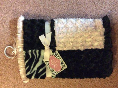 Pink Zebra Baby Blanket front-178531