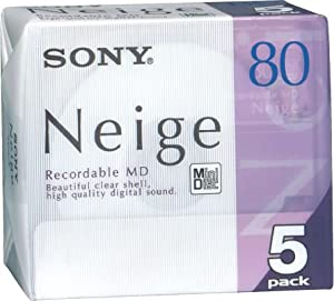 Sony Neige Series MiniDisk 80 Min 5 Pack Recordable MD