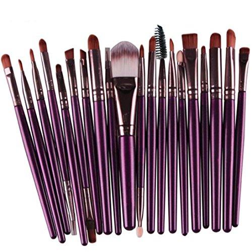 start-20-pcs-makeup-brush-set-tools-make-up-wool-kit-purple