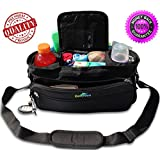 FLASH SALE Premium Large Stroller Organizer Universal Fit And Portable Diaper Bag With Thermo Insulated Cup Holders...