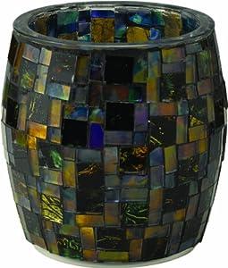 Westinghouse 791102-MS1LR Mosaic Glass Table Top Solar Patio Light, Large, Design Number-1, 2-Piece Set