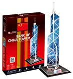 3D three-dimensional puzzle Bank of China Tower (japan import)