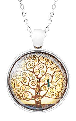 collana-ciondolo-con-meravigliosa-immagine-artistica-lalbero-della-vita-di-gustav-klimt-charm-in-vet