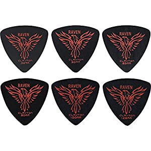 Clayton Black Raven Rounded Triangle Guitar Picks 1.0MM 1 Dozen