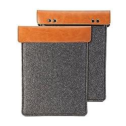 Gmyle Sleeve Felt for iPad Mini - Squama Grey & Mud Brown