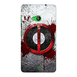 Ajay Enterprises Bleed Dead Multicolor Back Case Cover for Lumia 535