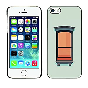 Omega Covers - Snap on Hard Back Case Cover Shell FOR Apple iPhone 5 / 5S - Window Wall Art Painting Oil Simplistic