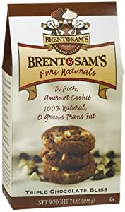 Brent & Sams Pure Naturals Triple Chocolate Bliss Cookies, 7-Ounce Boxes (Pack of 12)