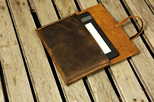 distressed-leather-kindle-paperwhite-case-cover-simple-retro-brown-leather-kindle-voyage-cover-case-