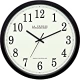 La Crosse Technology WT-3143A  14-Inch Atomic Wall Clock, Black