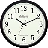Home - La Crosse Technology WT-3143-H  14-Inch Atomic Wall Clock, Black