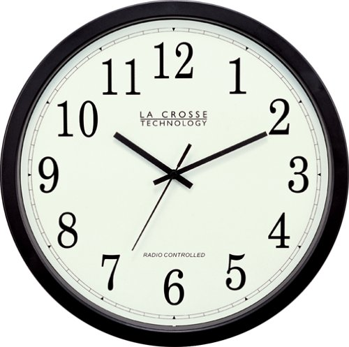 La Crosse Technology WT-3143-H  14-Inch Atomic Wall Clock, Black