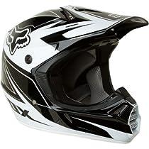 FOX V3R Carbon Helmet, Black/White, Large