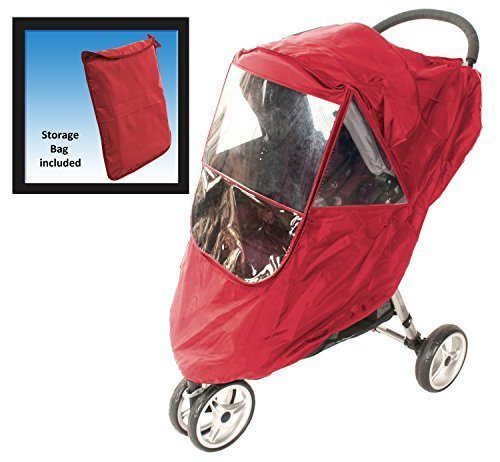Comfy Baby! Universal Multi-Purpose Stroller weather Protector - Fits All Deluxe Umbrella, Full Size & Jogging Strollers - Red