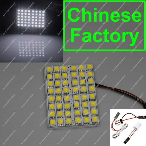 White 48 5050 Smd Led Box Door Dome Light Panel Interior T10 Festoon Ba9S 12V