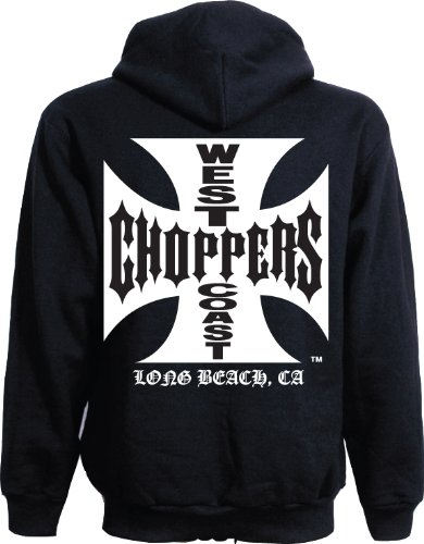 WEST COAST CHOPPERS -  Felpa con cappuccio  - Uomo nero X-Large