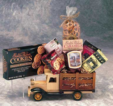 Gourmet Mens Gift -Antique Truck With Gourmet Snacks -Great Birthday Gift Idea For Men