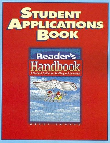Great Source Reader's Handbooks: Student Application Book Grade 7 2002