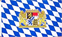 Bavaria National Country Flag - 3 foot by 5 foot Polyester () by 3x5Flag.com