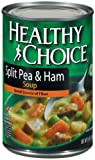 5196UvyIbHL. SL160  Healthy Choice Split Pea &amp; Ham Soup, 15 Ounce Cans (Pack of 12)