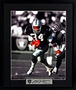 Bo Jackson Raiders Spotlight 16x20 Photograph (SGA Signature Series) Framed by Sports Gallery Authenticated