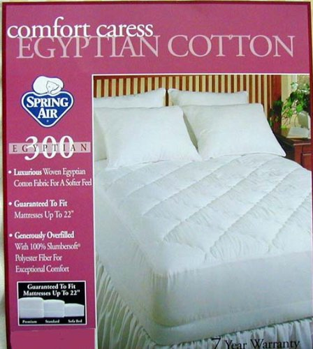 MARRIKAS Egyptian Cotton 300TC Mattress Pad OLYMPIC QUEEN