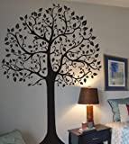 Digiflare Graphics - Large 7ft Tree Wall Decal Deco Art Sticker Mural - BLACK
