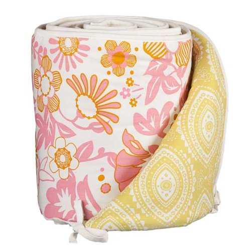 Lolli Living Poppy Seed Bumper, Whimsy Pink