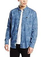 Lee Camisa Hombre Button Down (Azul)