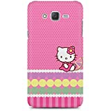 Printed Back Cover For Samsung Galaxy J3 2016 By Motivatebox.Cute Hello Kitty Design, Polycarbonate Hard Case With Premium Quality And Matte Finish