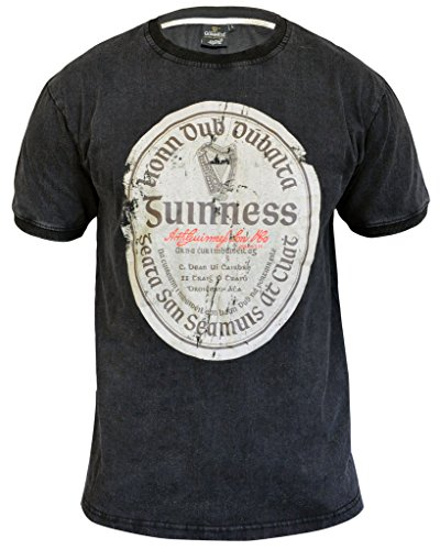 Guinness Men's Premium Black Supersoft Irish Gaelic Label Short Sleeve T-Shirt (Guinness Beer Tshirt compare prices)