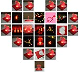 Ultra - slim Heart Shape Credit Card Light Fold - up LED Pocket Wallet / Purse Lamp - RANDOM COLOR (SET OF TWO)
