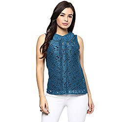 STYLEBAY Women Blue Polyester Top (CST021, Large)