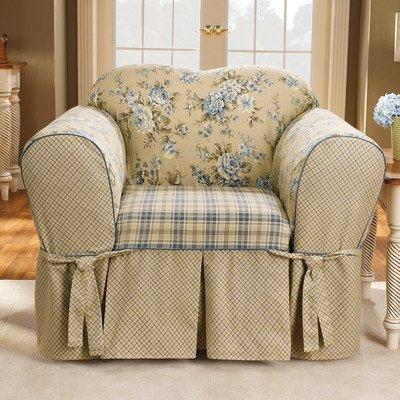 Sure Fit Lexington Chair Slipcover, Blue front-952376
