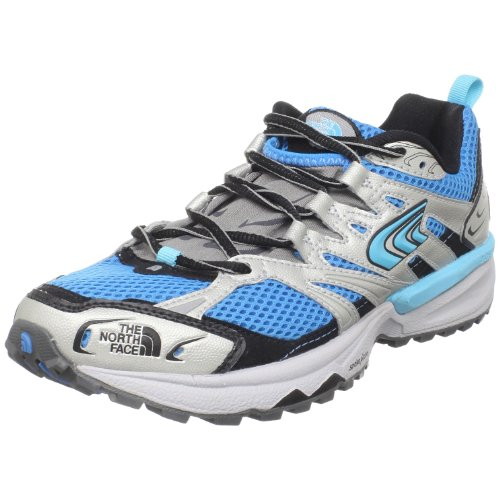 The North Face Single-Track Trail Running Shoes - Woman's Blitz Blue/Metallic Silver 9