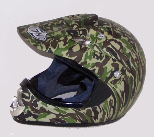 ATV Dirt Bike MotoCross Helmet THH Camo
