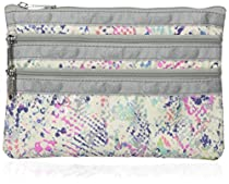 LeSportsac 3 Zip Cosmetic Case Cosmetic Bag, Prism Snake, One Size