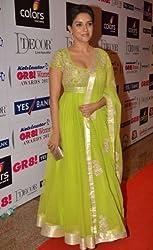 Ashvah Asin Green Anarkali Suit