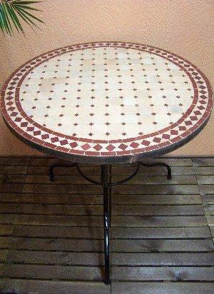 arabischer Wohnzimmertisch Marrakesch natur/ Bordaux 80cm online kaufen