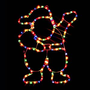 Christmas decorations 49cm rope light father christmas for Large outdoor light up christmas ornaments