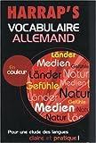 echange, troc Collectif - Harrap's : Vocabulaire allemand