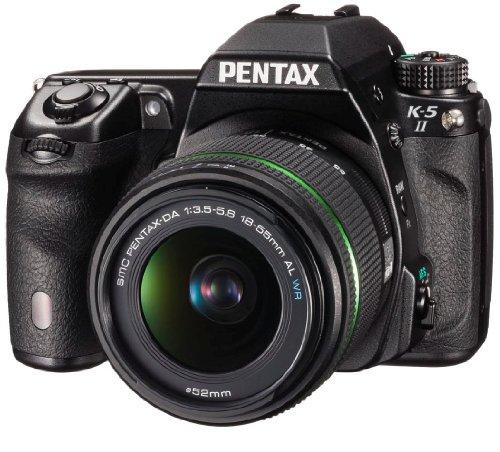 Pentax-K-5-II-Kit-Fotocamera-e-Obiettivo-18-55mm-WR-Sensore-CMOS-APS-C-da-1693-Megapixel-Display-LCD-da-3-Video-Full-HD-Nero