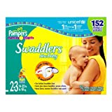 Pampers Swaddlers, Size 2-3, 152-Count