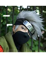 Hatake Kakashi Silver Grey Short Full Cosplay Wig Costume Party Cos Hair Wig +headband