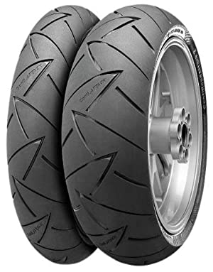 Continental Conti Road Attack 2 GT Tire – Rear – 180/55ZR-17 , Position: Rear, Tire Size: 180/55-17, Rim Size: 17, Load Rating: 73, Speed Rating: (W), Tire Type: Street, Tire Construction: Radial, Tire Application: Touring 02441100000