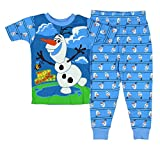 Disney Frozen Olaf 2 Piece Short Sleeve Pajama Sleepwear Little Boys