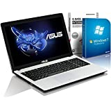ASUS X55MA (15,6 Zoll) Notebook (Intel N2840 Dual Core 2x2.58 GHz, 4GB RAM, 750GB S-ATA HDD, Intel HD Graphic, HDMI, Webcam, USB 3.0, WLAN, DVD-Brenner, Windows 7 Professional 64 Bit) #4855