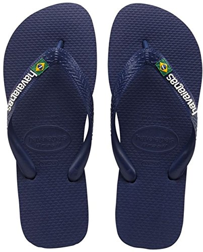 Havaianas Brasil Logo, Infradito, Unisex-adulto, Blu (Navy Blue), 43/44 EU (41/42 BR)